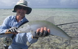Bonefish capturé aux Seychelles Canne Thomas & Thomas Solar 9p soie 8 Moulinet Abel Super 7/8N - Custom Platine