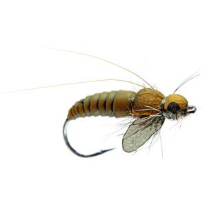 Mouche J:son emergente de trichoptère - 72 - 15 mm h12 - Olive Brown