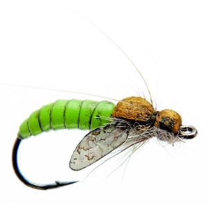 Mouche J:son emergente de trichoptère - 75 - 13 mm h14 - Green