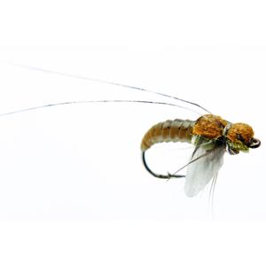 Mouche J:son emergente de trichoptère - 76 - 10 mm h18 - Olive Brown