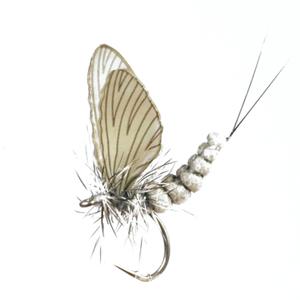 Mouche J:son éphémère adulte - 35 - 10 mm h20 - Olive Grey