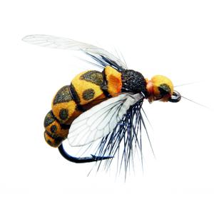 Mouche J:son insecte terrestre guêpe - 140 - 16 mm h10 - Black & yellow