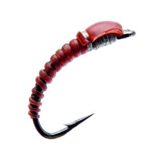 Mouche J:son nymphe de chironome - 125 - 7 mm h18 - Red