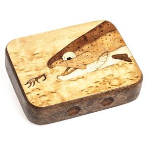 Boîte à mouches Lm2g - Truite en chasse - Bois
