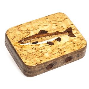 Boîte à mouches Lm2g - Truite - Bois
