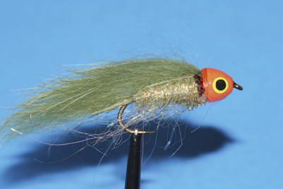 Mouche Lm2g streamer tête cône ou haltère - ST84 - Hot Orange & Olive  h8