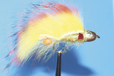 Mouche Lm2g streamer tête cône ou haltère - ST86 - Flamer  h8