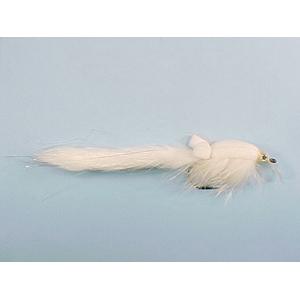 Mouche Lm2g mouche brochet - B11 - White Bunny Wobbler  h5/0