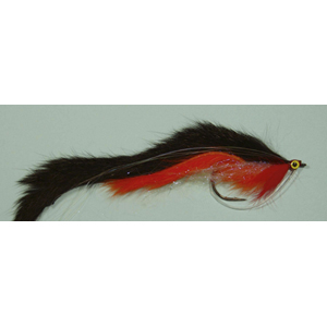 Mouche Lm2g mouche brochet - B4 - Black & Orange Double Bunny  h5/0