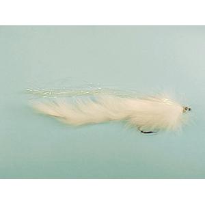 Mouche Lm2g mouche brochet - B6 - White Pike Bunny  h5/0