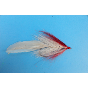 Mouche Lm2g mouche brochet - B14- Red White Bucktail  h5/0