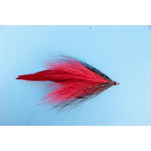 Mouche Lm2g mouche brochet - B15- Black Red Bucktail  h5/0