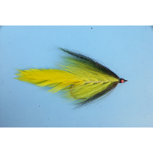 Mouche Lm2g mouche brochet - B16- Black Yellow Bucktail  h5/0