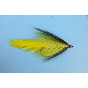 Mouche Lm2g mouche brochet - B16- Black Yellow Bucktail  h5/0