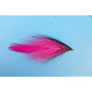 Mouche Lm2g mouche brochet - B17- Black Pink Bucktail  h5/0