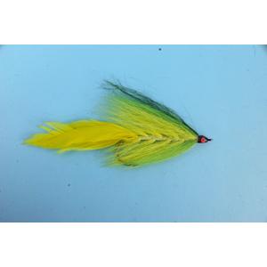Mouche Lm2g mouche brochet - B18- Green Yellow Bucktail  h5/0