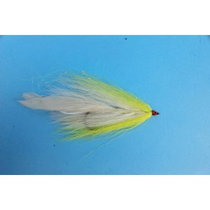 Mouche Lm2g mouche brochet - B19 - Yellow White Bucktail  h5/0