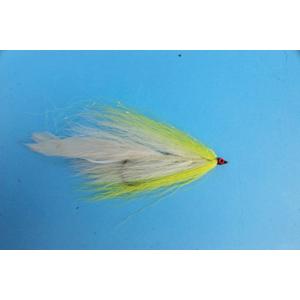 Mouche Lm2g mouche brochet - B19 - Yellow White Bucktail  h5/0