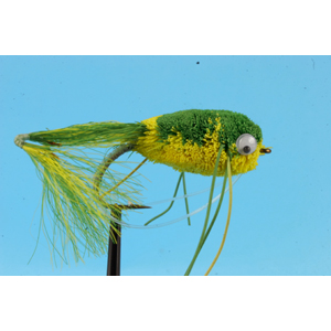 Mouche Lm2g mouche brochet - B24 - Green Frog h4