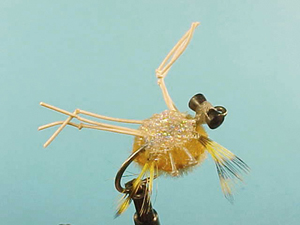 Mouche Lm2g mouche mer - M11 - Light Olive Furry Foam Crab  h4