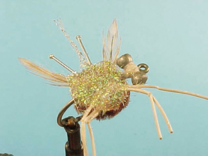Mouche Lm2g mouche mer - M12 - Brown Furry Foam Crab  h4