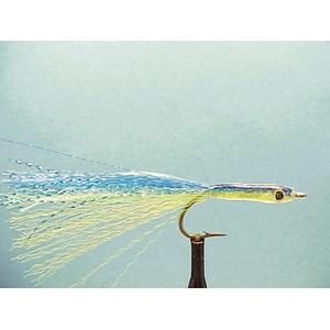 Mouche Lm2g mouche mer - M25 - Blue & Chartreuse Needlefish  h2/0