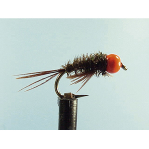 Mouche Lm2g nymphe casquée - N10 - Orange Hothead DB  h 10