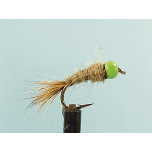 Mouche Lm2g nymphe casquée - N13 - Green Hothead Hares Ear  h10