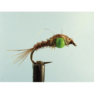 Mouche Lm2g nymphe casquée - N15 Green Hothead PT  h10