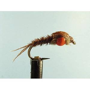 Mouche Lm2g nymphe casquée - N16 - Orange Hothead PT  h10