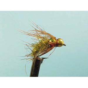 Mouche Lm2g nymphe casquée - N24 - Hares Ear Caddis  h12