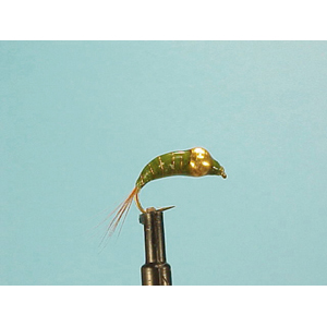 Mouche Lm2g nymphe casquée - N29 - Olive Curved Nymph  h12