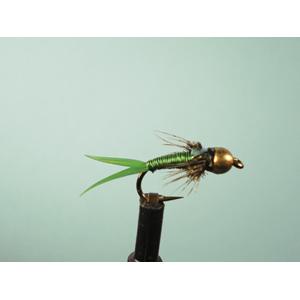 Mouche Lm2g nymphe casquée - N35 - Copper John Green  h14