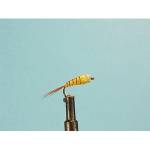 Mouche Lm2g nymphe casquée - N39 - Yellow Glue Nymph  h16