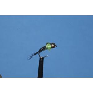 Mouche Lm2g nymphe casquée - N42B - Black & Green PT  h16