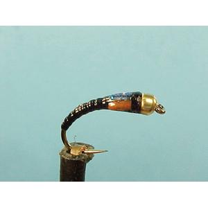 Mouche Lm2g nymphe tungsten - N43 - Black Buzzer  h12