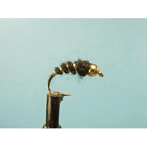 Mouche Lm2g nymphe tungsten - N44 - Black Bug  h10