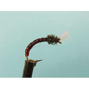 Mouche Lm2g nymphe légère - N62 - Claret Buzzer NG  h12