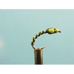 Mouche Lm2g nymphe légère - N65 - Green & Black Glow Buzzer  h12