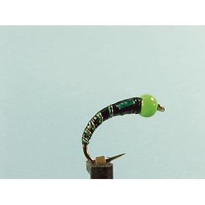 Mouche Lm2g nymphe casquée - N7 - Green Hothead Black  h 12