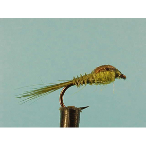 Mouche Lm2g nymphe légère - N71 - Olive Quill Nymph  h14