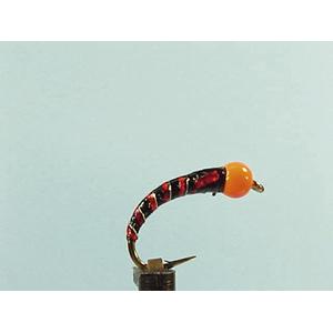 Mouche Lm2g nymphe casquée - N8 - Orange Hothead Black  h 12