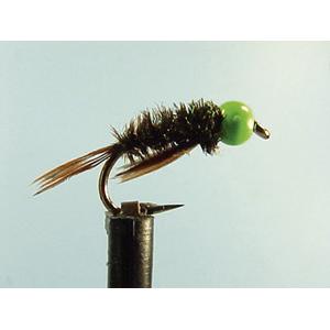 Mouche Lm2g nymphe casquée - N9 - Green Hothead DB  h 10