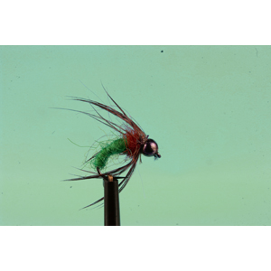 Mouche Lm2g nymphe casquée - N2 - Green Caddis  h 14