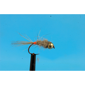Mouche Lm2g nymphe tungsten - N47 - Orange Tag Hare's Ear  h14