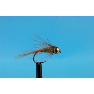 Mouche Lm2g nymphe tungsten - N48B -Run Butt Olive CDC Nymph  h14