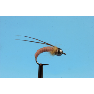 Mouche Lm2g nymphe tungsten - N48E -Caddis Dark Tan  h10