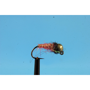 Mouche Lm2g nymphe tungsten - N48I -Coral Fibre Lite Flashback  h12