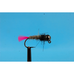 Mouche Lm2g nymphe tungsten - N48M -Pink Tag Hare's Ear h12
