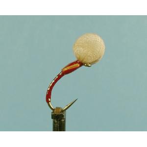 Mouche Lm2g mouche sèche - S44 - Suspender Buzzer Red  h 12
